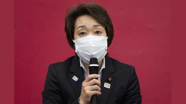 橋本聖子新会長の記者会見画像