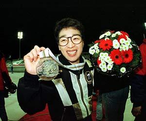 銅メダルを獲得した橋本聖子