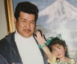 幼少の頃のぼる塾あんりと父親