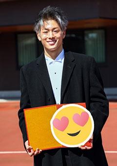 高校卒業式の三浦孝太