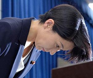 小渕優子の辞任会見